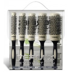 Termix Evolution Soft Case of 5 Hair Brushes (17mm, 23mm, 28mm, 32mm and 43mm)