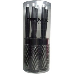 Termix Hair Brush Professional Case of 5 Hairbrushes (17mm, 23mm, 28mm, 32mm and 43mm)