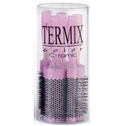 Termix Hairbrush Estuche de 5 Cepillos Iónicos Cerámicos Color Fuchsia (17 mm, 23 mm, 28 mm, 32 mm y 43 mm)